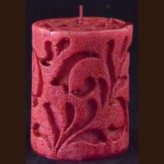 Cвічка Рококо красный металик (8 x 15 см)