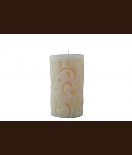 Cвеча Рококо бежевая (8 x 15 см)