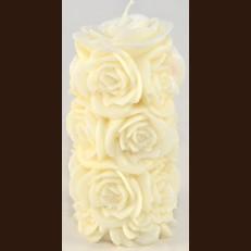 Свеча Роза Цилиндр ( 8 х 14 см )