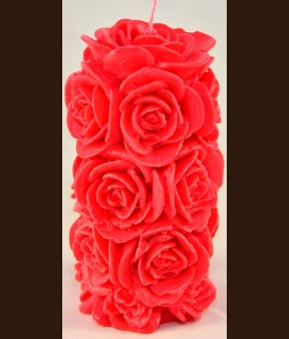 Candel Roses Cylinder ( 8 х 14 cm )