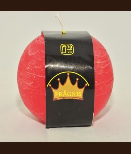Candel Rustic Ball red ( D-10 х 10, 70 hours ) / 6