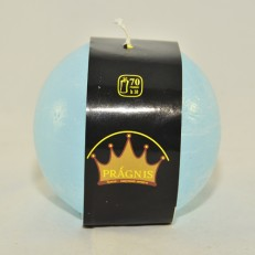 Candel Rustic Ball light blue ( D-10 х 10, 70 hours ) / 6