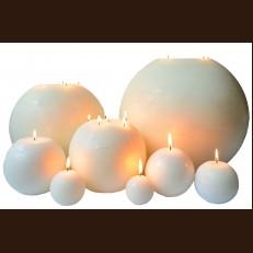 Свічка Рустік Шар білий ( D-40 x 40 )