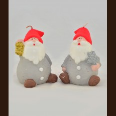 Санта серый (8х11 см)