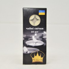Candel tea light white 10 шт