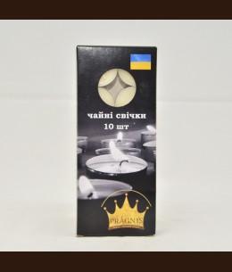 Свеча чайная белая 10 шт