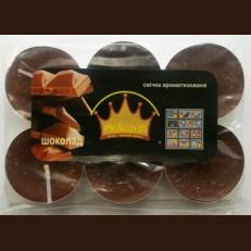 Свічка чайна АРОМА ( 8 х 12 ) \ 6 шоколад