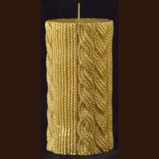 Cвічка в'язана золото ( 7,5 x 14)